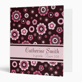 Pink Floral Avery Binder