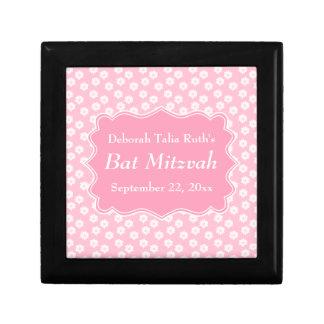 Pink Floral Bat Mitzvah Gift Boxes