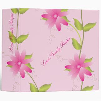 Pink Floral Binder