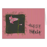 Pink Floral Birthday Card