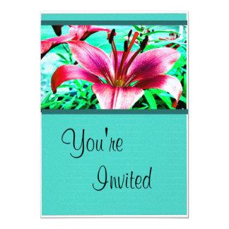 Pink Floral Birthday Invitation