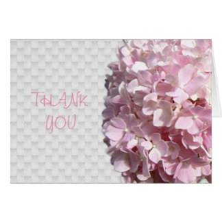Pink Floral blank thank you note Card