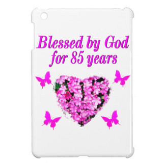 PINK FLORAL BLESSED BY GOD FOR 85 YEARS CASE FOR THE iPad MINI