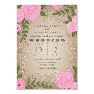Pink Floral Border Cardstock Inspired Card