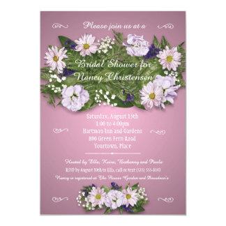 Pink Floral Bouquet Bridal Wedding Shower Card