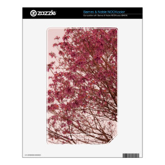 Pink Floral Branches NOOK Color Decals