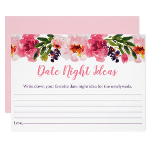 pink floral bridal shower date night ideas invitation