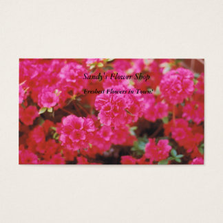 Pink floral business cards