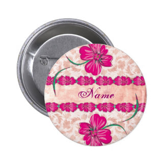 PINK floral - button