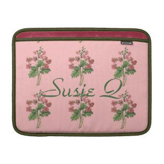 Pink Floral Cellphone Case MacBook Sleeve