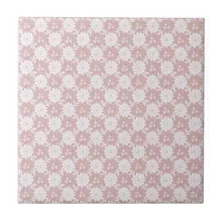 Pink Floral Ceramic Tile