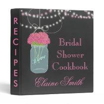 pink floral Chalkboard Mason Jar Recipe Folder