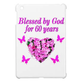 PINK FLORAL CHRISTIAN 60TH BIRTHDAY DESIGN CASE FOR THE iPad MINI