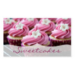 Pink Floral Cupcake Bakery Double-Sided Standard Business Cards (Pack Of 100)