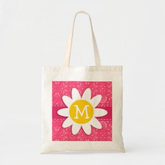 Pink Floral Daisy Bags