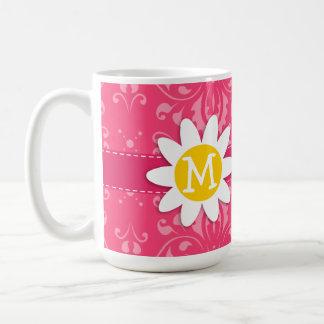 Pink Floral; Daisy Coffee Mug