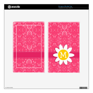 Pink Floral Daisy Kindle Fire Skins