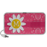 Pink Floral; Daisy Travelling Speakers