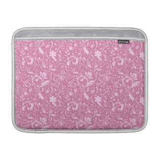 Pink Floral Damask Pattern Sleeve For MacBook Air
