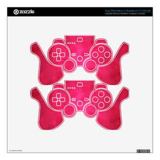 Pink Floral Design Art Glow Gradient Digital Art L Decal For PS3 Controller