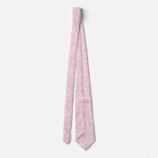 Pink Floral Design Tie