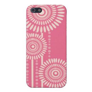 Pink Floral Designer iPhone 4 Cases