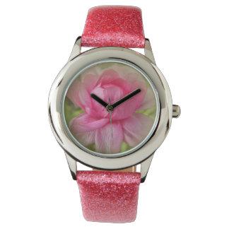 Pink Floral Designer Watch