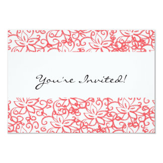 Pink Floral Drawing Invitation