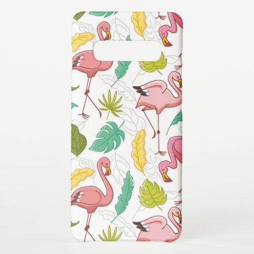 Pink floral flamingo autumn leaf Phone Case