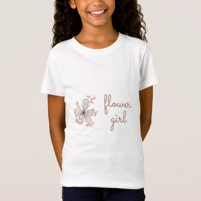 Pink Floral Flower Girl T-Shirt
