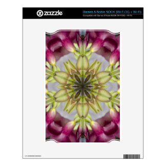 Pink Floral Geometric Decals For The NOOK