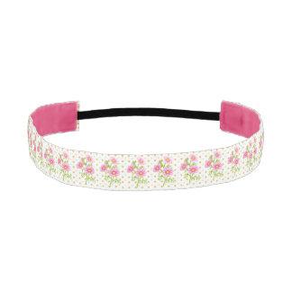 Pink Floral Headband Athletic Headbands