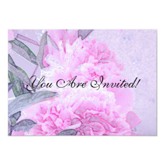 PINK FLORAL HOUSE PARTY INVITATION -