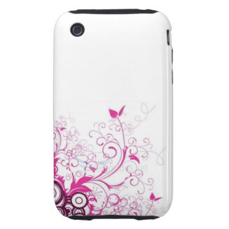Pink Floral iPhone 3 Tough Cover