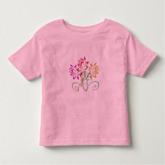 Pink Floral Kids Flower Toddler Girl T-Shirt