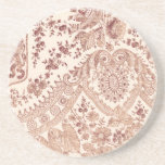 Pink Floral Lace Coaster