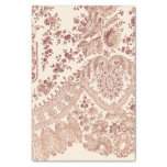 Pink Floral Lace With Roses Tissue Paper at Zazzle