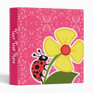Pink Floral; Ladybug 3 Ring Binders