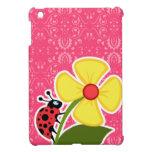 Pink Floral; Ladybug iPad Mini Covers
