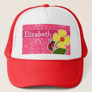 Pink Floral; Ladybug Trucker Hat