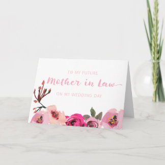 Pink Floral Mother in Law Wedding Card
