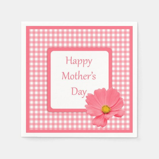 Pink Floral Mother's Day Napkins