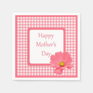 Pink Floral Mother's Day Napkins Paper Napkin