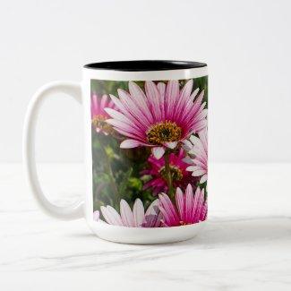 Pink Floral Mug mug