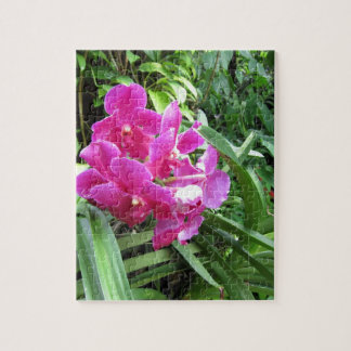 Pink floral on rich greenery puzzle