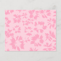 Pink floral pattern.