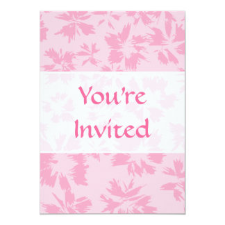 Pink floral pattern. 5x7 paper invitation card