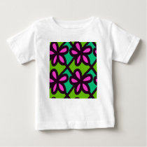 pink floral pattern baby T-Shirt