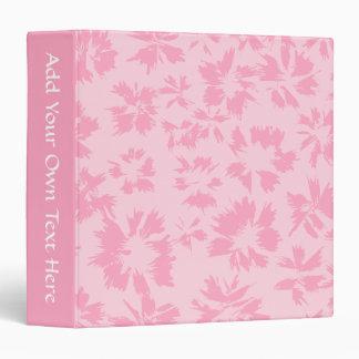 Pink floral pattern. binder
