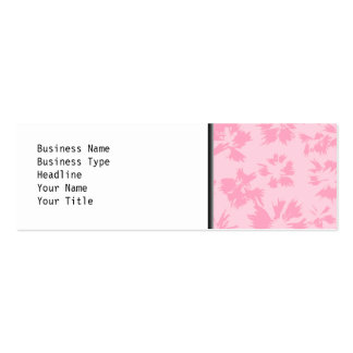 Pink floral pattern. Double-Sided mini business cards (Pack of 20)